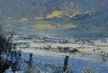 Snowscenes / Snowscape paintings by Purple Gallery Artists