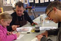 my work Printmaking workshop in #newlyn today now part of the @newlynartsfestival run by @danpyneartist and team