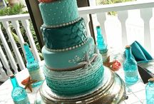 Salmon and turquoise Pastel Wedding