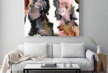 buyable pins - art / Buy modern, minimal, abstract art right here on Pinterest. All all art by Jules Tillman (www.julestillman.com)