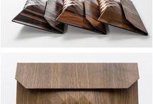 Wood work / Flexible wood pouch