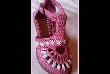 zapatos a ganchillo