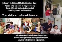 February 11: National Shut-in Visitation Day / A visit to a shut-in can make a positive difference in that person's life. February 11th celebrates National Shut-in Visitation Day and each year on this day, many people across the nation take time to make a difference. / by Daily Celebrations