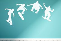 Sports Wall Decals / Sports decals to represent the sports lover in your life.