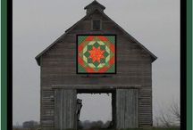 old barns and quilt trail barns / love of old barns in the country / by Betty Rollinson