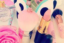 Make up and perfume and lip and lip balm