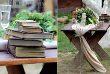 Bohemian rustic natural wedding decorations / Flordeluxe