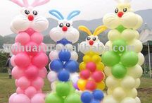 Balloons for Spring/Easter / Bunnies and more...