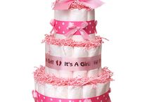 Diaper cakes for girls / collection picture of Diaper cakes for girls