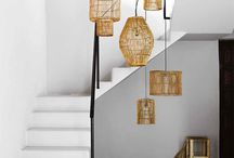 rattan hanging lamps for gallery
