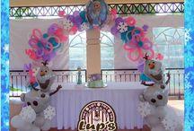 Frozen theme balloons