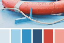 Summer colour pallets