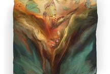 Art Designer Duvet Covers / The art of Carol Cavalaris on Duvet Covers.