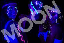 PASTEL NEON UV FACE & BODY PAINT by Moon Glow / Our unique range of Pastel UV Face Paint colours glowing under blacklight!