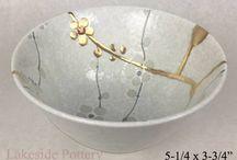 décor de porcelaine cassée