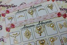 unhas jóias