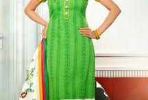 Cotton Chanderi Suits - rud-33001 / Latest Chanderi Cotton Churidar Suits