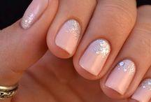 Nails sparkle gradient
