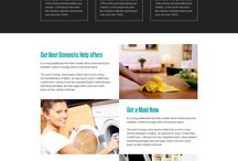 domestic help landing page design