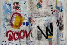 Art - Text, Scribbles, Numbers / Another favorite of mine is using text, scribbles and numbers in art.