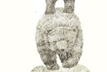 곰 연필드로잉