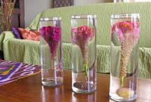 Submerged flowers