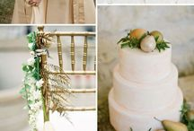 Golden Touch / Colour palette inspiration for Somerley House Weddings.