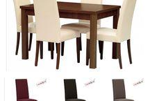 dřevěná celočalouněná židle