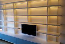 Modern TV Library - Moderne TV Boekenkast / Modern TV library - Moderne inbouw TV Boekenkast en boekenwand