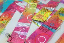 Gelli Plate & Monoprinting / #gelliplate #monoprinting #mixedmedia #artjournaling