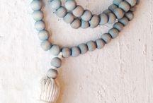 Boho wooden beads