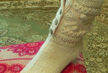 вязание. носочки.