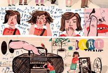 Illustration : : comics / Comics, bande dessinée, cartoons, graphic novels, books, funny, cool, illustration, design, line art.
