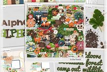 In The Forest / http://scraporchard.com/market/In-The-Forest-Digital-Scrapbook-Grab-Bag.html