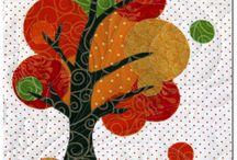 Stromečky / Quilting - aplique trees