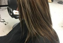Каштановые волосы