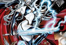 Lady Death / Brian Pullido's pale maiden, ruler of Hell.  Abandon all Hope ye who enter