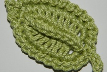 crocheted leaves and flowers