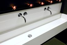 Multistation sinks. / Multi-Station hand sink is designed for the busiest institutional and industrial locations. They could be elegant and modern as well as practical. You can order any shape and colour -----------> www.luxum.pl  #multisinks #modernsinks #moderwashbasin #multi-station sink #luxum #bathroomideas #designinbathrom #outflowline #outflowlinewashbasin #multistationwashbasins