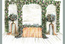 Эскизы свадебного декора
