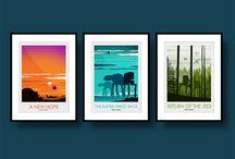 Star Wars Posters / Star Wars Posters, Art, Illustrations & Design