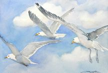 background for birds flying