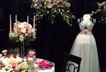 "Gala Cloths at David Tutera Bridal Show / Gala Cloths linens featured in event designer ""Eventricity's"" booth at the David Tutera Bridal Show in Philly."