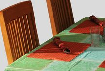 TABLE LINEN / This includes table cloths, mats, table runners, napkins and place mats. Table cloths come in various shapes and sizes. ONLINE SHOPPING: www.linenwings.in CONTACT US: www.balavignaorganic.com CONTACT @: rajesh@balavigna.com