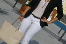 Pantalonws blancos look
