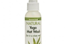 "All Natural Yoga Mat Wash / Keep your mats and exercise equipment ""healthy!""   Keep a bottle in your gym bag, your locker ... give a new eco-friendly mat to a friend with our All Natural Yoga Mat wash as a gift!"