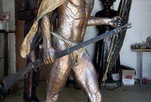 Bronze Sculpture - King Nyabela / Bronze Sculpture - King Nyabela of the Ndebele tribe in 1893.