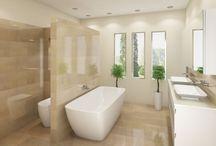 Travertine Bathroom / Bathroom ideas. Travertine Bathroom. Mediterranean. Gold Coast.