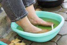 pés de molho no vinagre