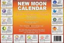 New Moon Calendar 2015 / A unique wall astrological calendar inspired by 13 New Moons through the Zodiac from Dec 2014 - Dec 2015. Benefit from this calendar's date and time tailored for Australian time zone to nurture emotionally yourself and the people that matters to you. This insightful calendar will guide you to plant your intentions under the powerful energy when Sun and Moon come together monthly. What a beautiful gift for ourselves and for anyone who wants to tune in with the energy of the New Moon.
